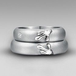 Anium Forever Love Matching Heart Of Mickey And Minnie Wedding Bands Rings
