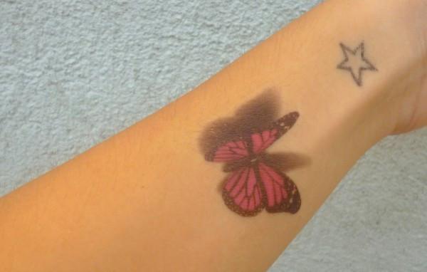3D Butterfly Tattoo – Default Title