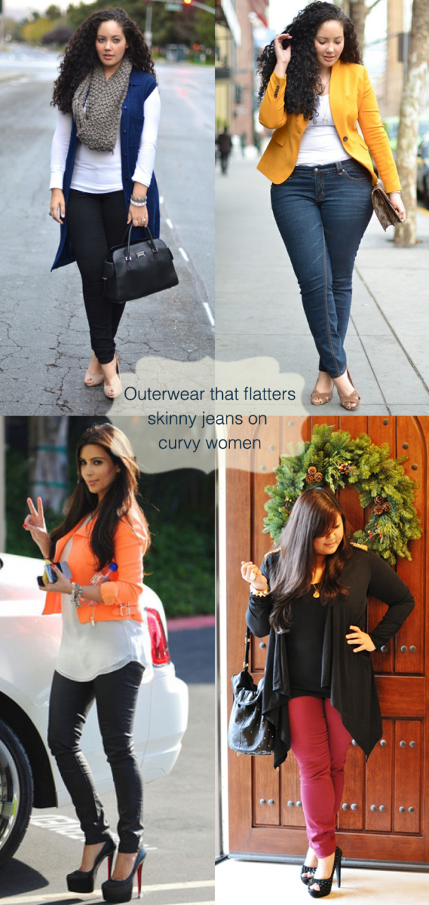 96cc56adfd90 Tips-for-curvy-women-to-wear-skinny-jeans in style.. plus size fashion tips  - Curve Collective