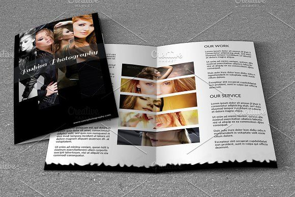 Photography Bifold Brochure -V729 by Template Shop on