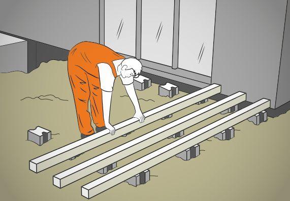 Holzterrasse selber bauen Anleitung mit Video OBI