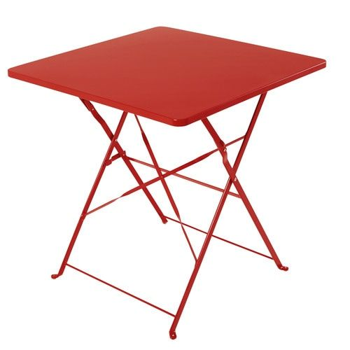 Table De Jardin Pliante En Metal Rouge 2 Personnes L70 Maisons Du Monde Table De Jardin Pliante Table De Jardin Mobilier De Salon