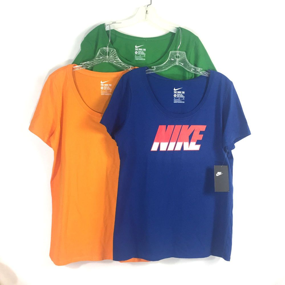 f5d6a26579167 NIKE Womens XL T-Shirts Blue Orange Green Short Sleeve Athletic 3 Tops   Nike  ShirtsTops