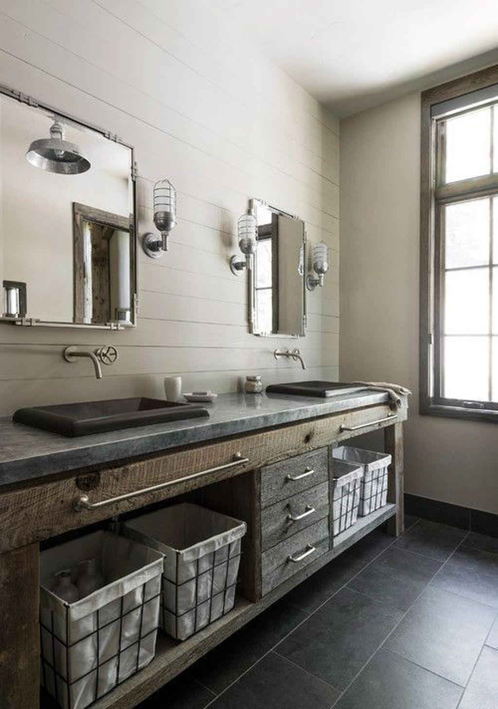 37 amazing rustic barn bathroom decor ideas modern