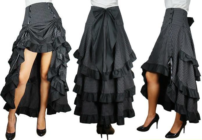 Steampunk Skirt... I may have to copy this for fun costume-y purposes
