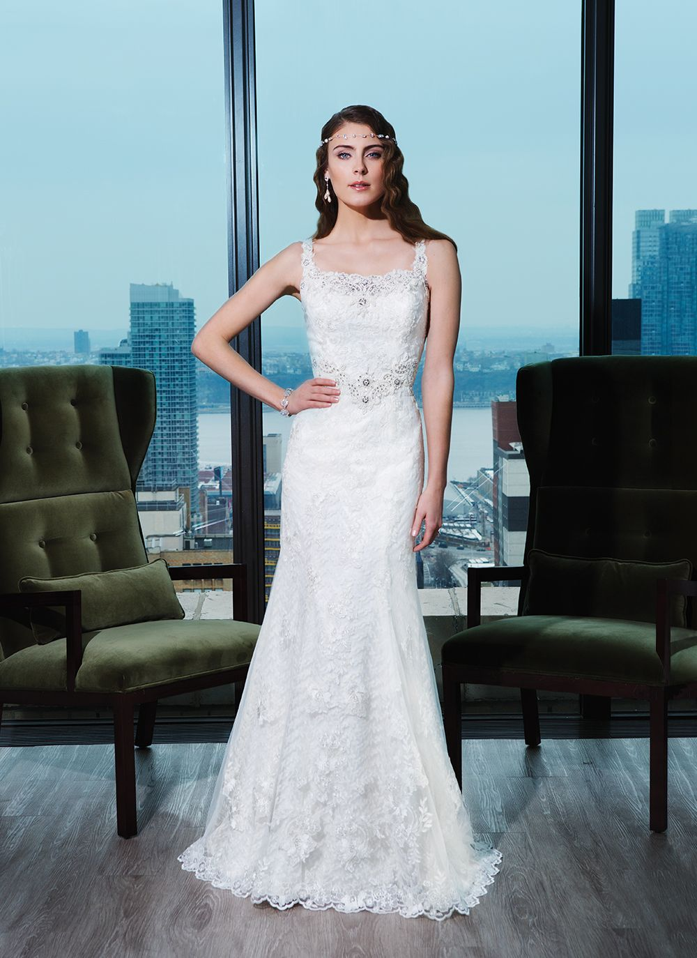 Justin Alexander Signature wedding dress Style 9762 Embroidered lace ...