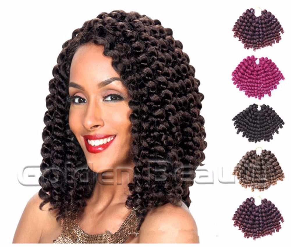 Crochet hair extension wand curl ombre twist braiding hair synthetic