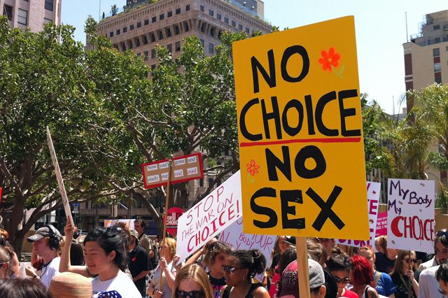 8 Best Signs From L.A.'s  'Unite Against the War on Women' Rally