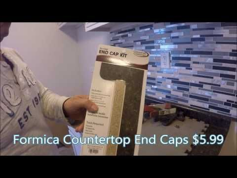 How To Install Formica Countertop End Caps Vedat Usta Youtube With Images Formica Countertops Countertops Formica