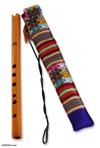 Hand Crafted Wood Quena Flute Andean Song Novica Flute Wood