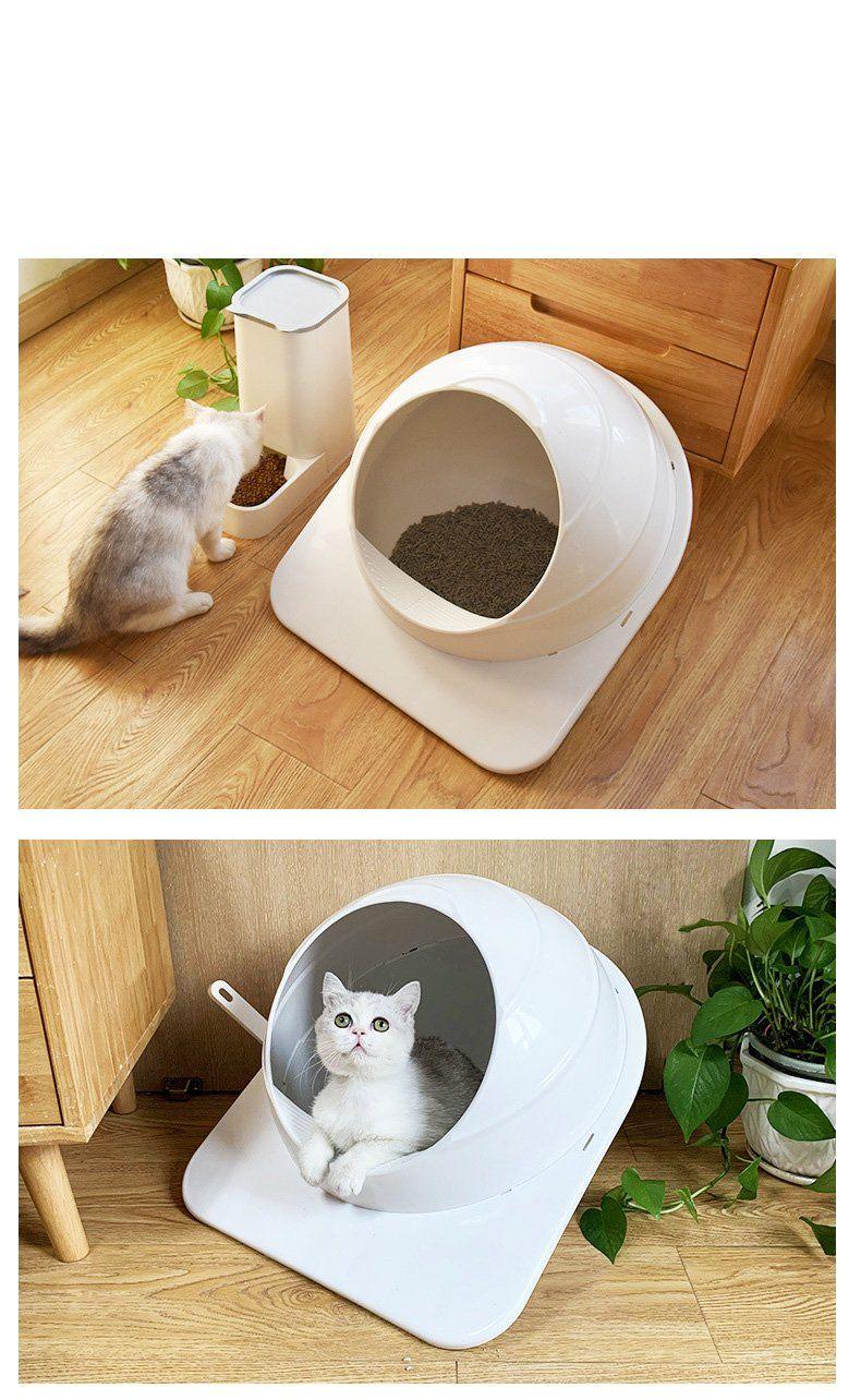 Smart Cat Litter Box! Top Entry Litter Box! Splash