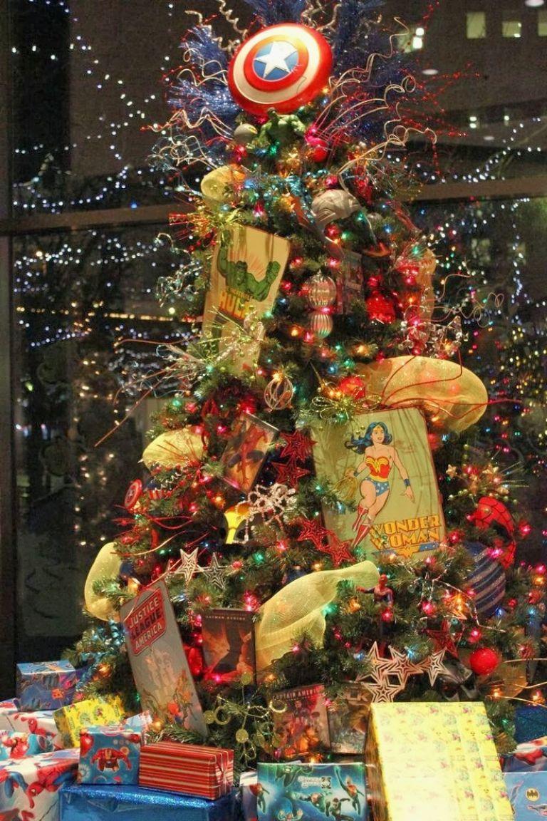 Themed Christmas Tree Ideas Just Short Of Crazy For Crazy Christmas Decorations Superhero Christmas Christmas Tree Themes Christmas Tree Clipart