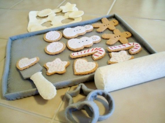 Felt Play Food Cookies For Santa Baking Set Made To Order #felttoys