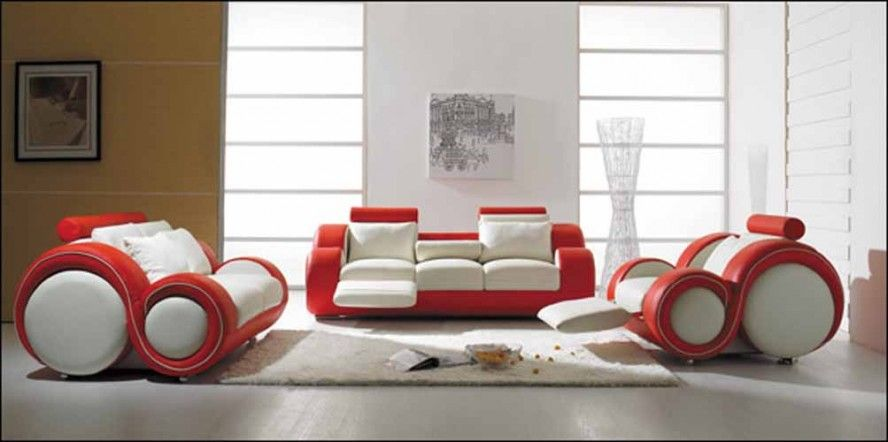Couch Designs For Living Room Adorable Unique Red And White Sofa Design Contemporary Living Room Design Ideas