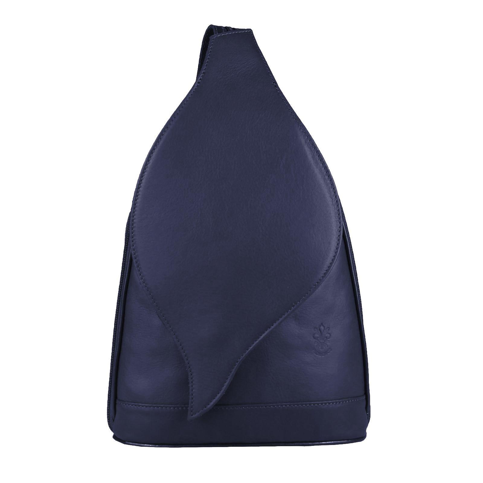 3add5686e57c1 OBC Made in Italy DAMEN echt Leder RUCKSACK Lederrucksack Tasche  Schultertasche Ledertasche Nappaleder Handtasche Blau 17x28x9cm
