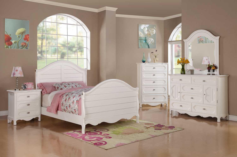 Homelegance Hayley Bedroom Set - White