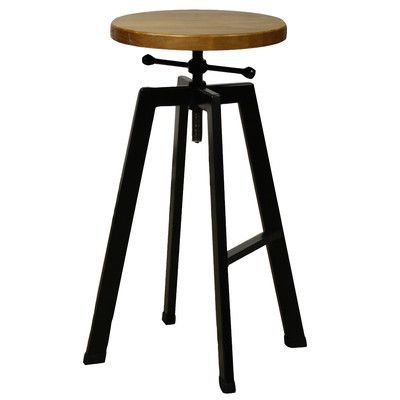 New Pacific Direct Adjustable Height Swivel Bar Stool
