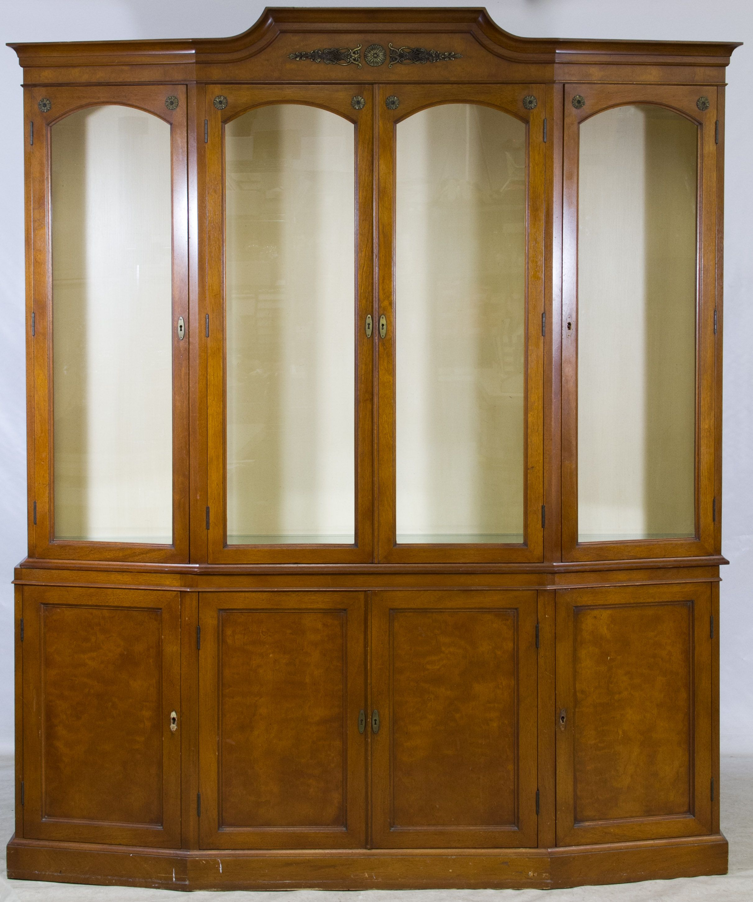Lot 118 Mahogany Display Cabinet Having Four Wood Framed Glass