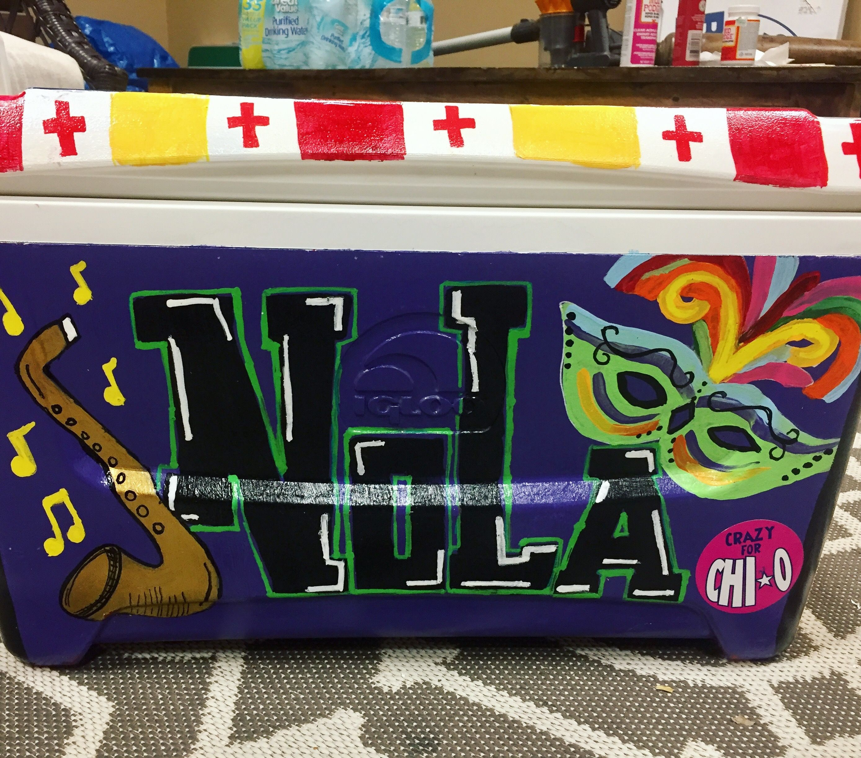 Sessel Nola New Orleans Painted Cooler Kappa Alpha Order Formal College