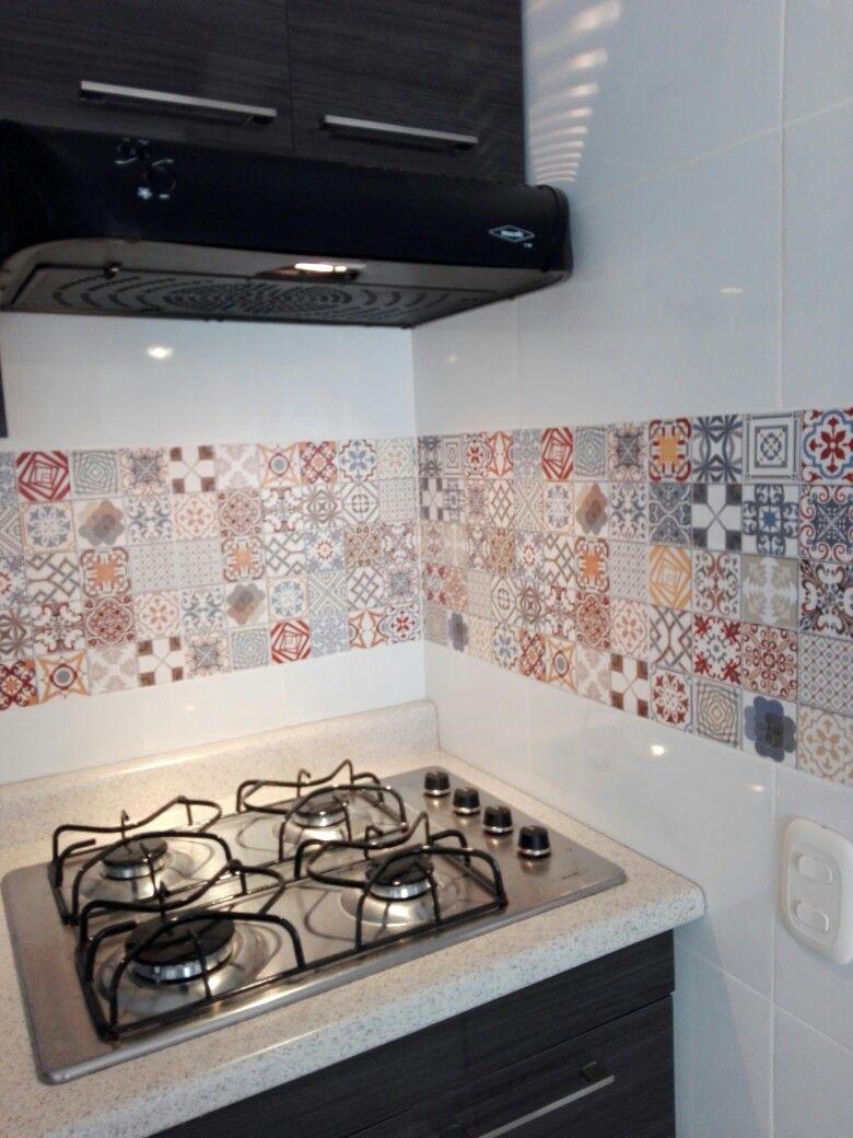 Cocina Integral Con Mosaico Patchwork Micocina Cocinas Con Mosaico Cocinas Integrales Cocinas
