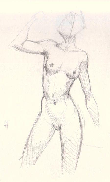 Draw Female Figure Study 01 How To Draw Woman Body Basic Drawing