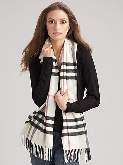 Burberry Giant Check Cashmere Scarf. How can you not love Burberry s plaid   Its precious!! 08ea1b5d5147e