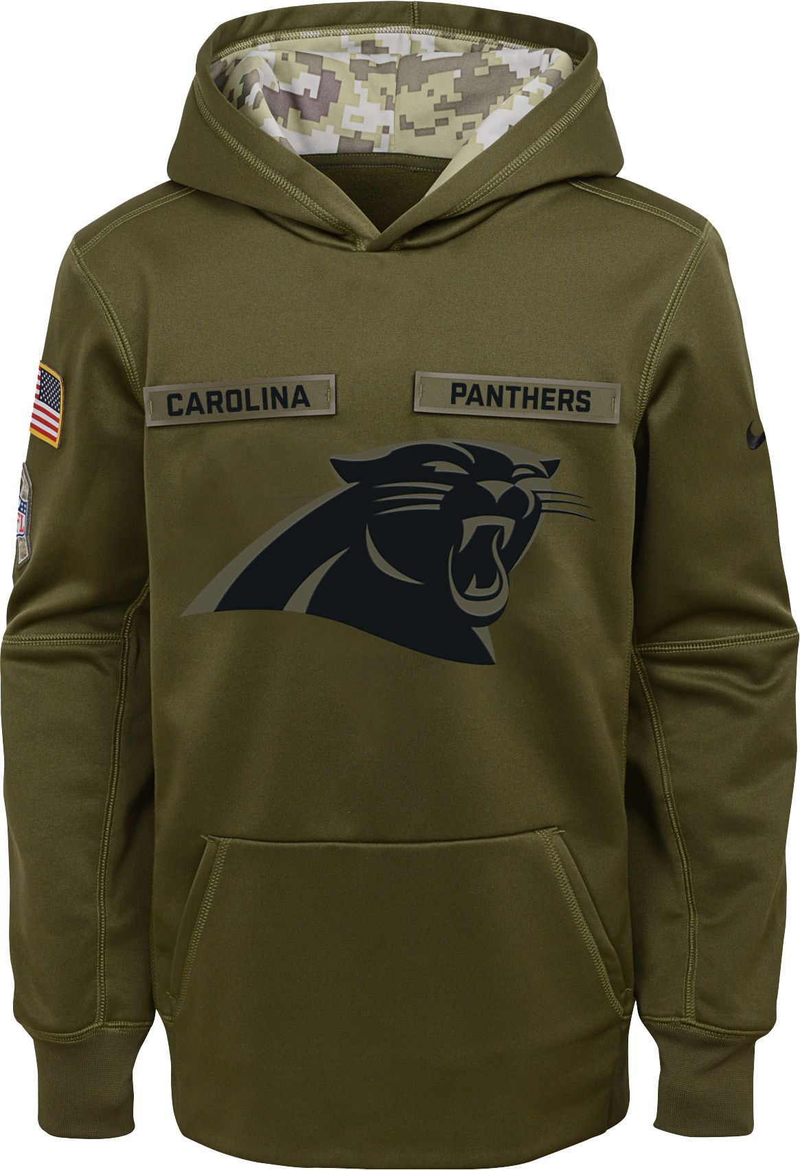 super popular d22e3 38778 Nike Youth Salute to Service Carolina Therma-FIT Olive ...