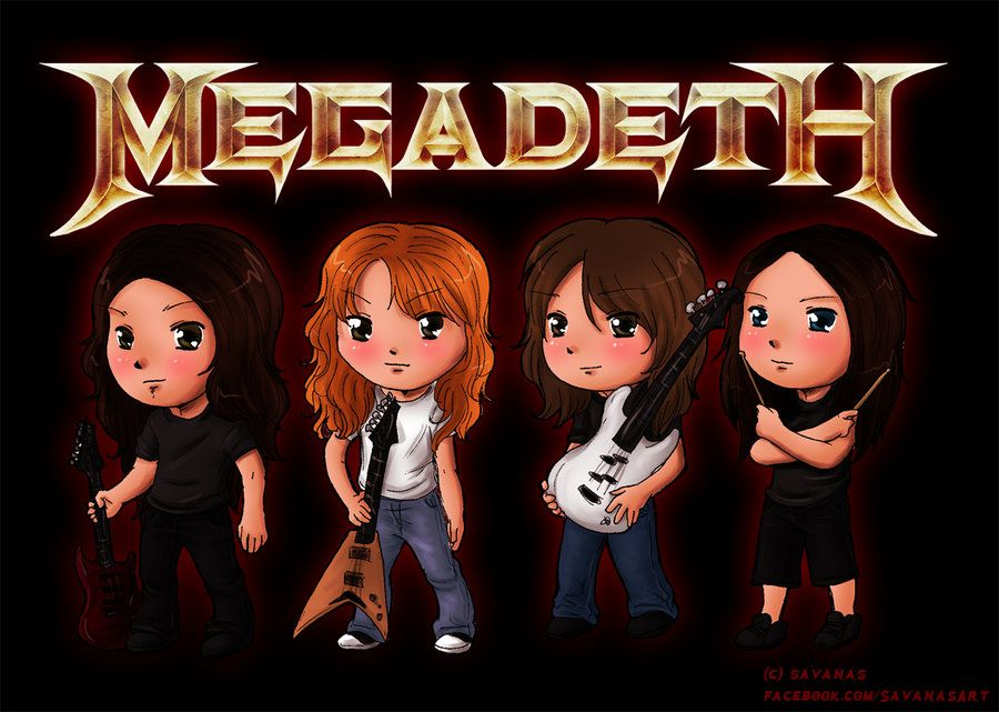 Megadeth Chibis Anime Art Jack And Coke