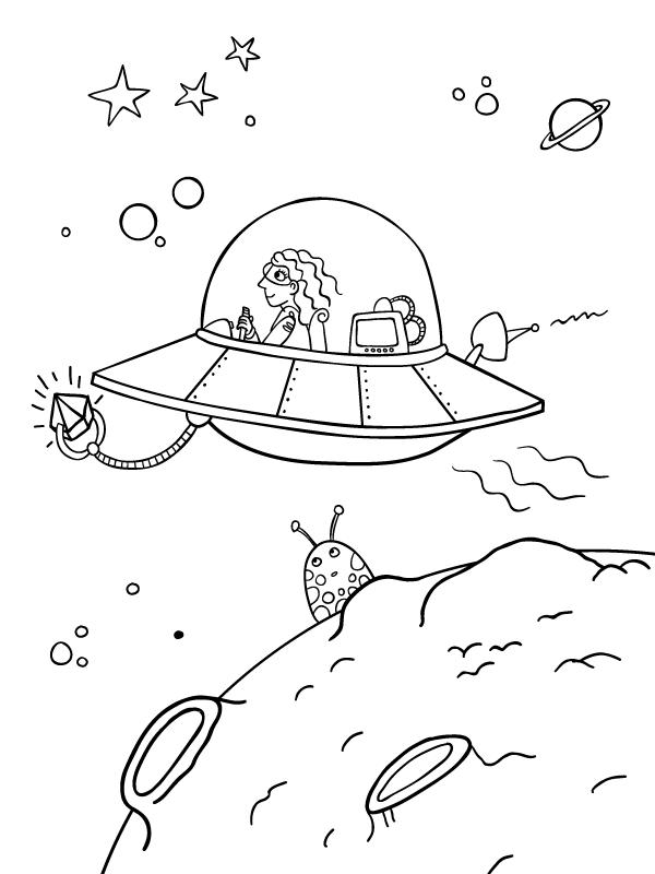 Navicelle spaziali e astronavi disegni da colorare gratis for Bicicletta immagini da colorare