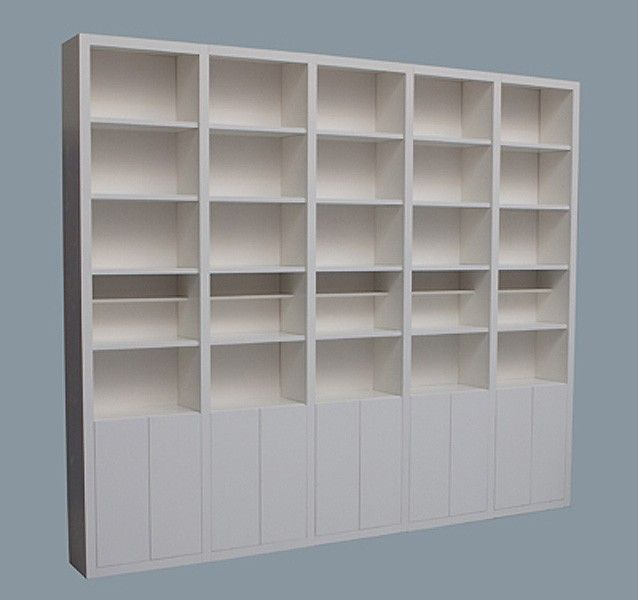 Boekenkast - werkplek | Pinterest - Boekenkasten, Massief hout en Zoeken