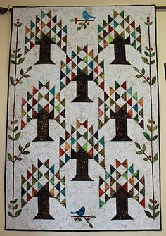 Tree of Life quilt made by Barb ~ Cherry Tree Quilts. Pattern is out of Edyta Sitar's book Friendship Triangles. posted Jan.2011