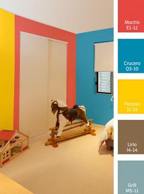 Color en rec mara ni os hogar familia sanchez rivas for Gama de colores para interiores