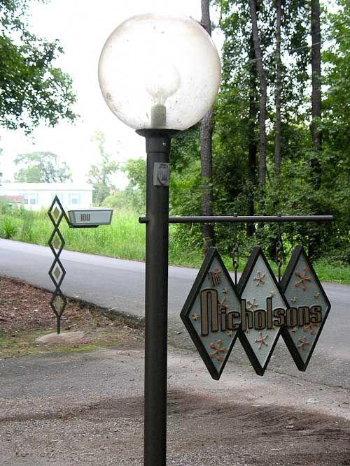 Diy Midcentury Modern Mailbox Post And Address Sign Gabe