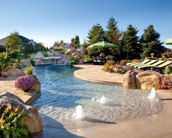outdoor by Shehan Pools http://www.houzz.com/photos/2520773/Private-Estate-10-tropical-pool-cincinnati     #
