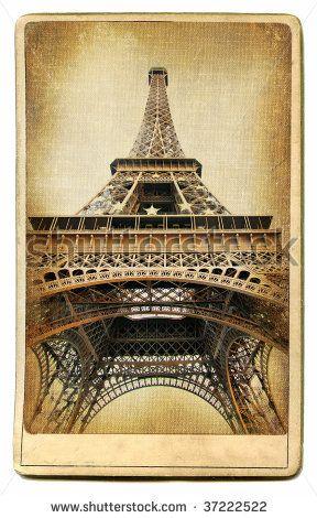 European landmarks-Parisian architecture-vintage cards series