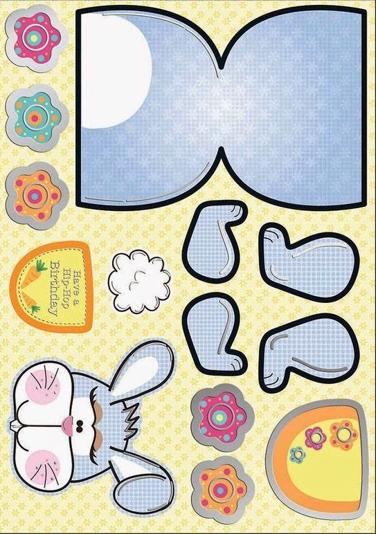 Funny Bunny: Cute Free Printable Paper Toy  | Printables