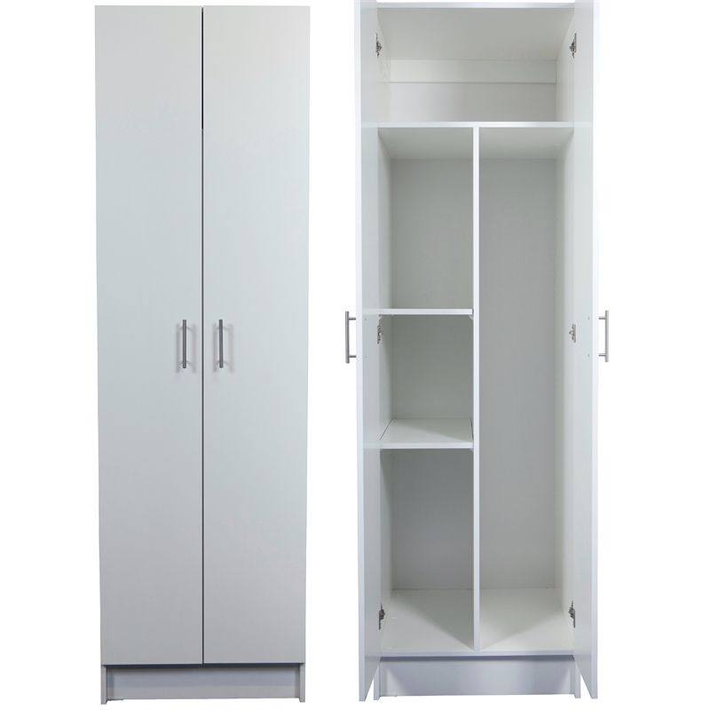 Bedford 2000 X 600 X 600mm White 2 Door High Moisture Resistant Split Cabinet Laundry Cabinets Storage Laundry Cupboard