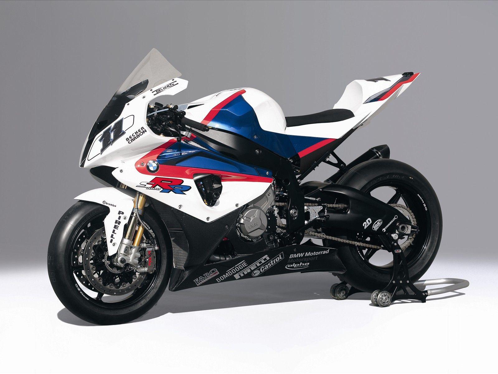 sport bikes BMW S 1000 RR Race Bike White Edition Bmw