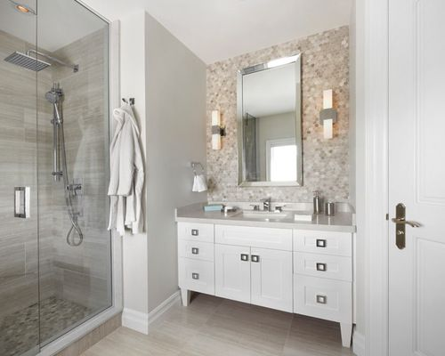 tile behind bathroom mirror the fenyrose from houzz