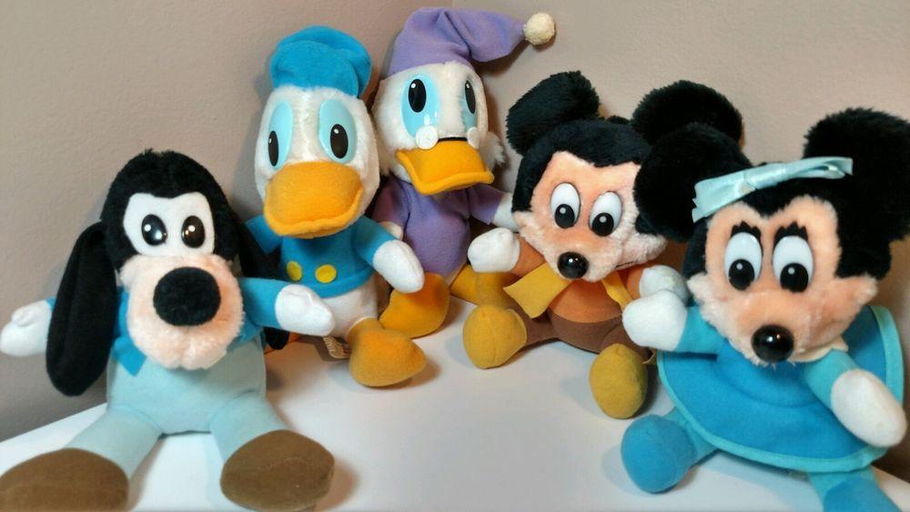 Walt Disney 1984 Mickey's Christmas Carol Plush Set of 5