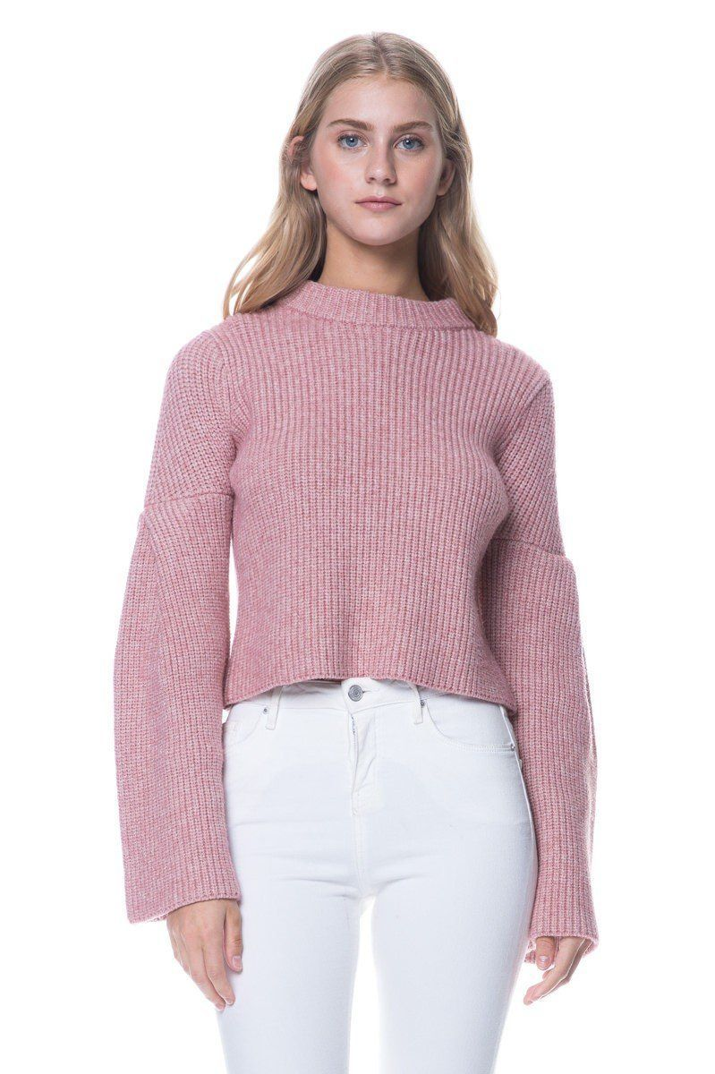 Endless Rose Blush Bell Sleeve Sweater Azalea pink bell sleeve ...