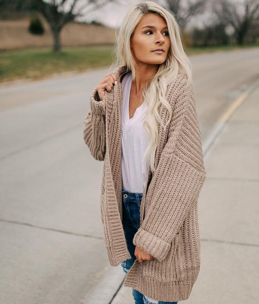 4b49daad34c Fashion On Earth Chunky Knit Cardigan Sweater - Women's | Products ...