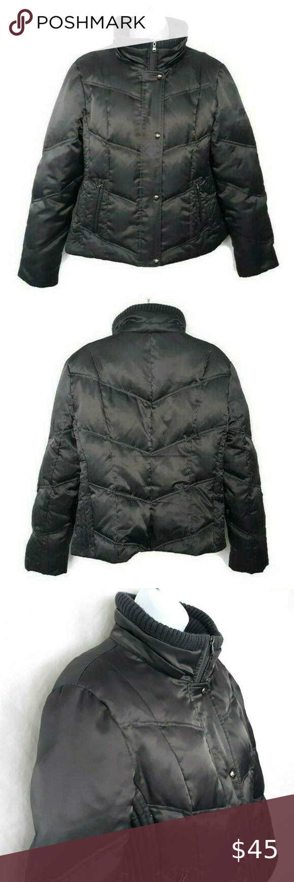 Guess Gray Quilted Down Insulated Puffer Jacket Jackets Puffer Jackets Puffer [ 1740 x 580 Pixel ]