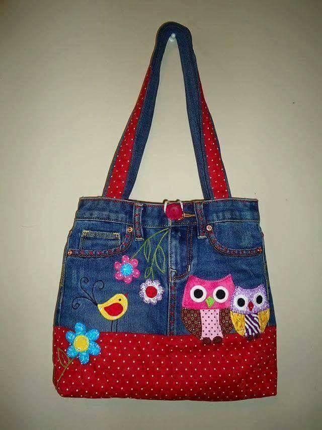 Bonte jeans tas | Sewing | Pinterest | Tasche nähmuster, Handytasche ...