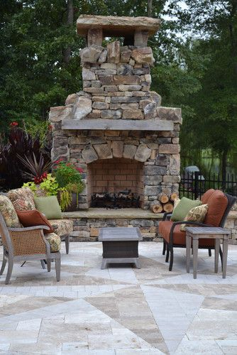 Great Patio Fireplace Design Ideas, Pictures, Remodel And Decor
