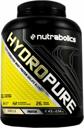 Nutrabolics Hydropure Vanilla 4.5 Lbs. NBOL4510103 Vanilla - Support Ultra-Lean Muscle Gains!
