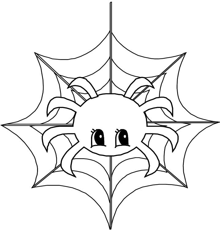 Cute Animal Spider Coloring Page Spider Coloring Page Animal Coloring Pages Cute Coloring Pages