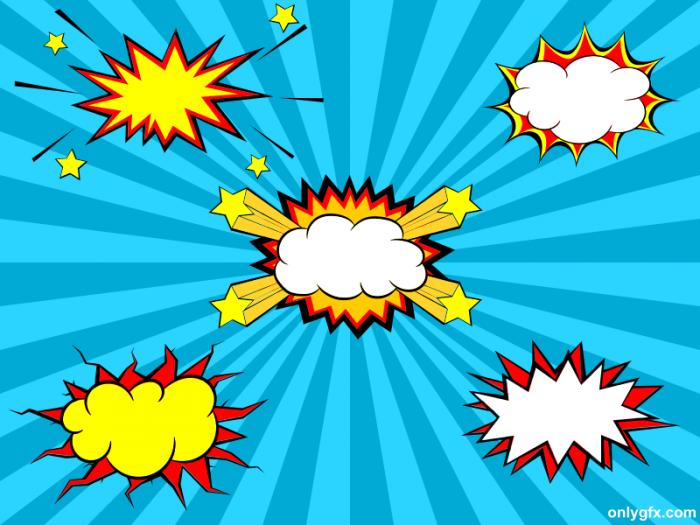 5 Comic Explosion Bubble Png Transparent Svg Vector Onlygfx Com Svg Png Comics