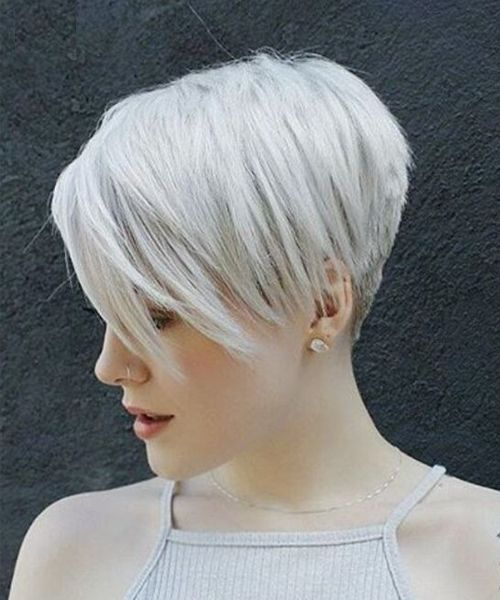 Latest Short Edgy Platinum Blond Haircuts 2019 To Look Modish And Nice Edgy Short Hair Short Hair Trends Short Hair Styles