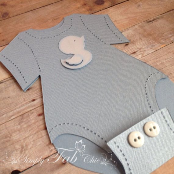 Baby Shower Onesie Invitation (Set Of 10) / Diaper Invitation